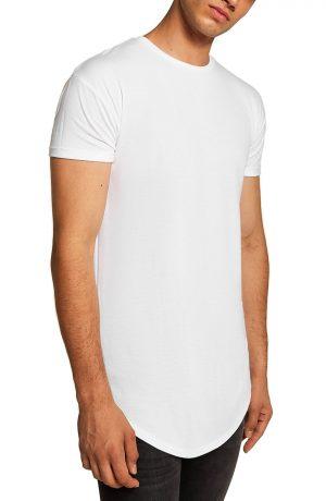 Men's Topman Scotty Longline T-Shirt, Size Large - White
