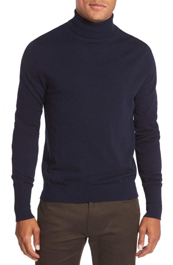 Men's Vince Camuto Merino Wool Turtleneck, Size XX-Large - Blue
