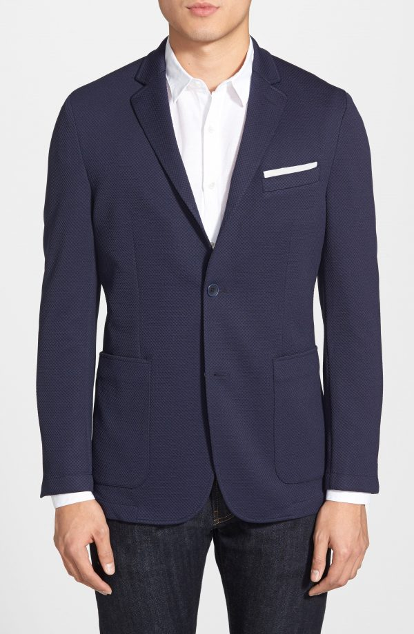 Men's Vince Camuto Slim Fit Stretch Knit Sport Coat, Size Small S - Blue