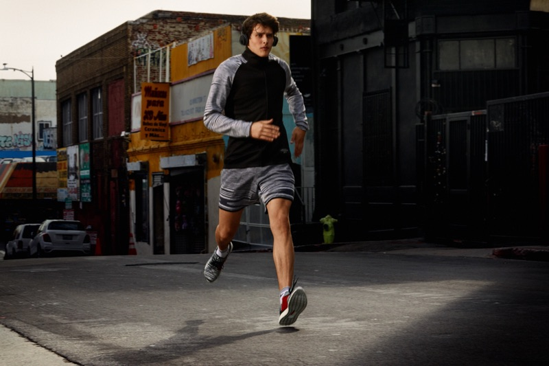 Simon Van Meervenne wears a look from the Adidas x Missoni collaboration.