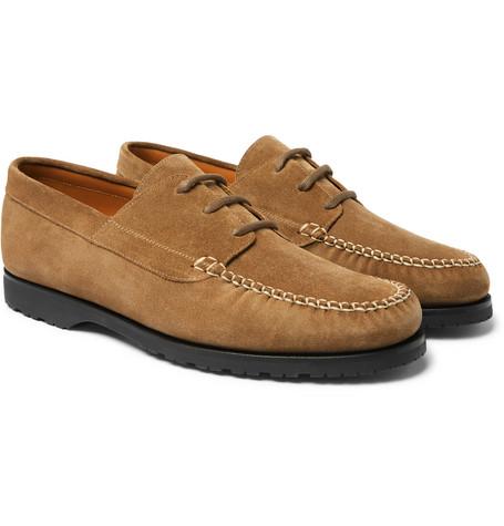 Mr P. - Dennis Suede Boat Shoes - Men - Tan