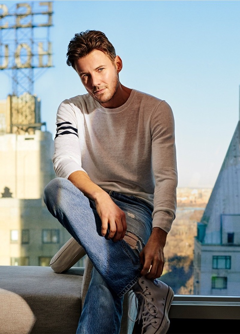 Naked Cashmere enlists Alex Lundqvist as the star of its spring-summer 2019 campaign.