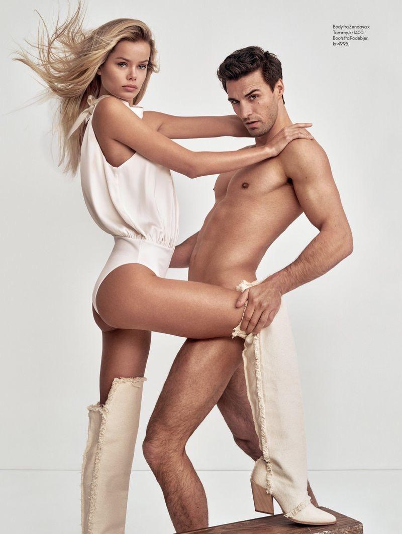 Nikolai Danielsen & Frida Aasen Star in Elle Norway Cover Shoot