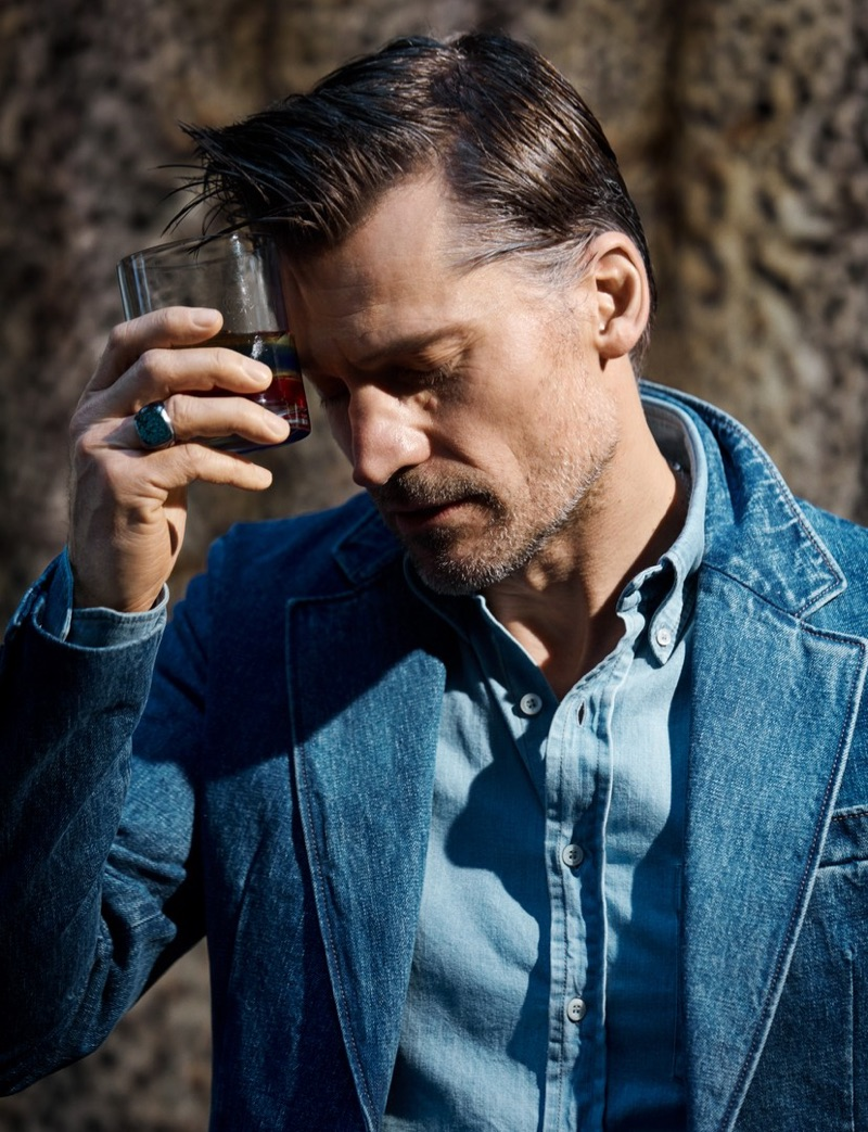 Sporting denim, Nikolaj Coster-Waldau stars in a new photo shoot.