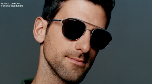 Novak Djokovic fronts Lacoste's spring-summer 2019 eyewear campaign.