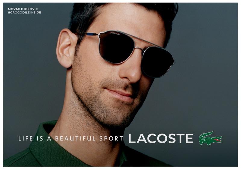 Novak Djokovic fronts Lacoste's spring-summer 2019 eyewear campaign.