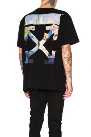 OFF-WHITE Colored Arrows Tee in Black. - size L (also in M)