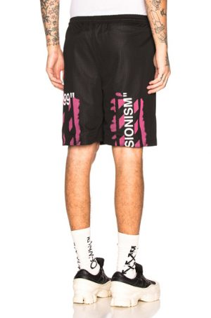 OFF-WHITE Diagonal Stencil Mesh Shorts in Black. - size M (also in )