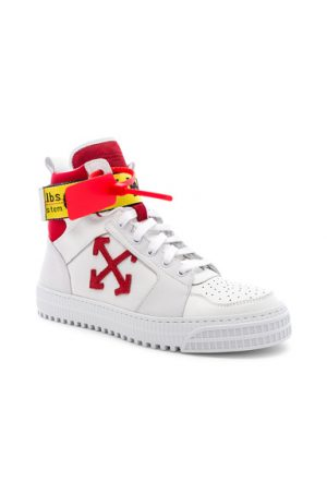 OFF-WHITE Industrial Belt Hi-Top Sneaker in White. - size 40 (also in 44)