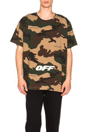 OFF-WHITE Oversized Tee in Abstract,Green,Neutrals. - size M (also in )