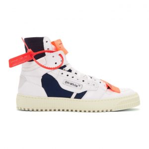 Off-White White and Blue Low 3.0 High-Top Sneakers