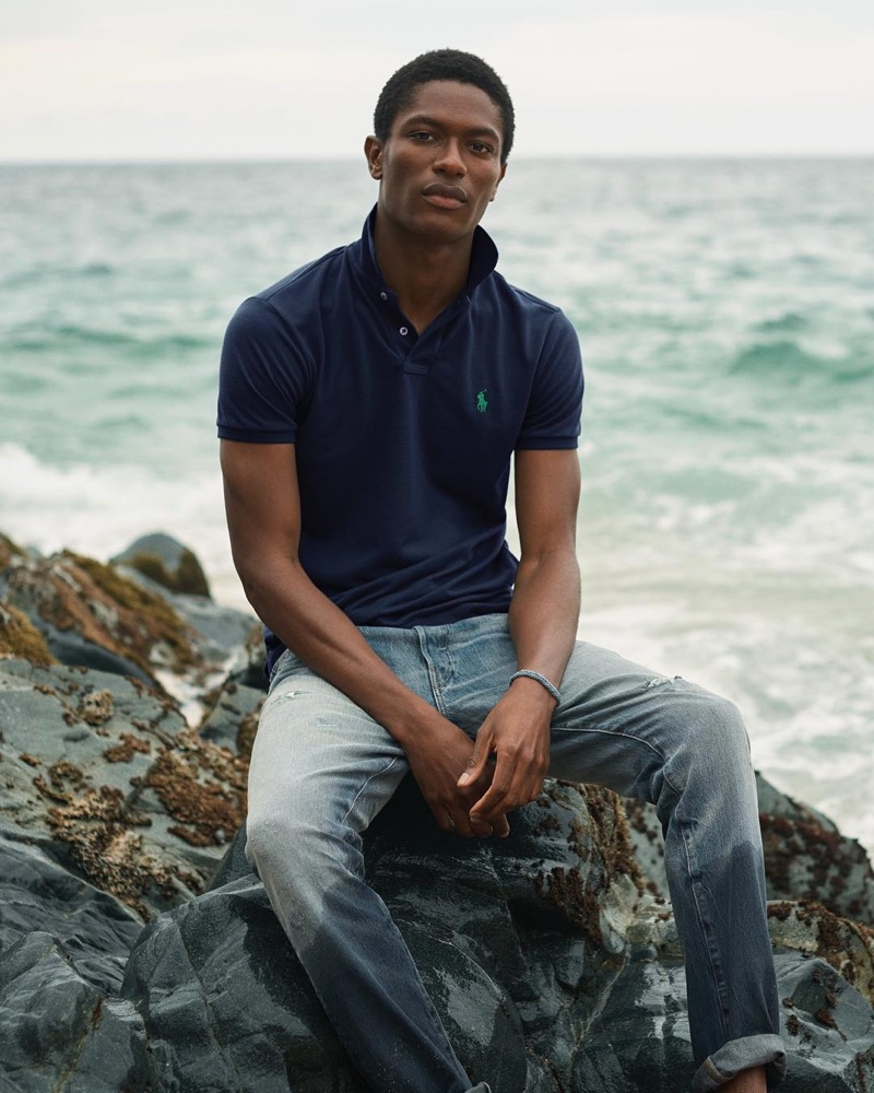 Hamid Onifade fronts POLO Ralph Lauren's Earth Polo campaign.