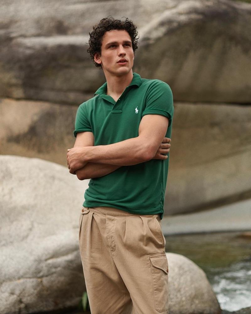 Simon Nessman stars in POLO Ralph Lauren's Earth Polo campaign.