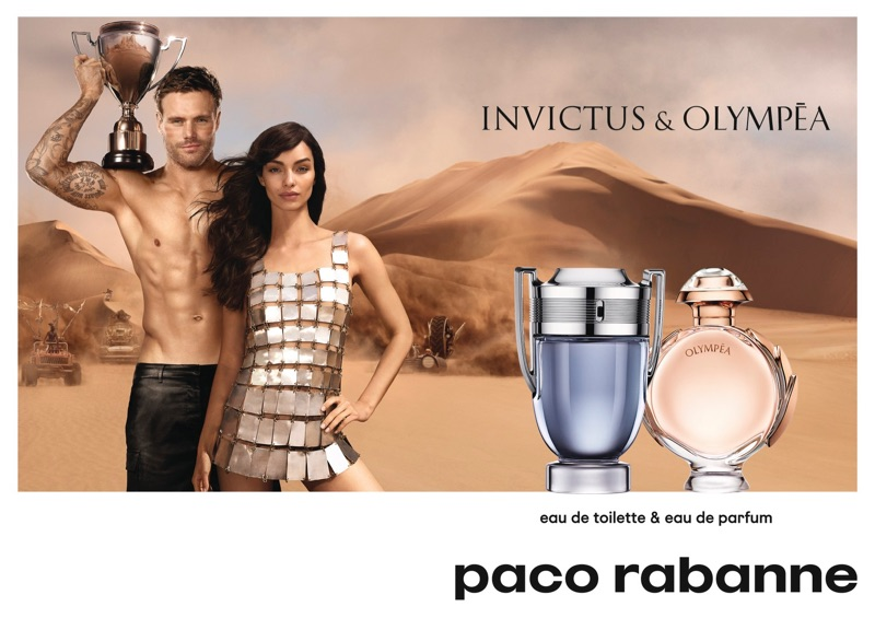 Models Nick Youngquest and Luma Grothe come together for Paco Rabanne.
