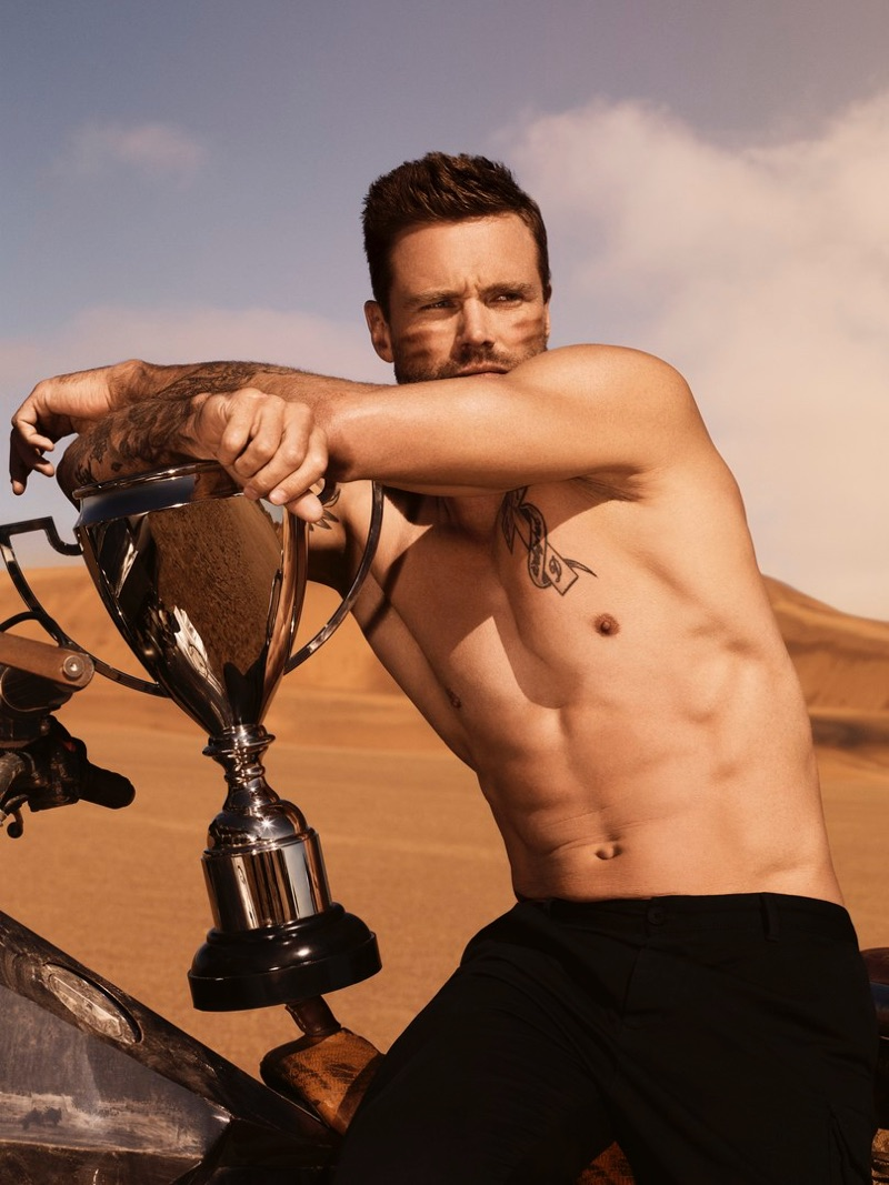 Nick Youngquest fronts the Paco Rabanne Invictus fragrance campaign.