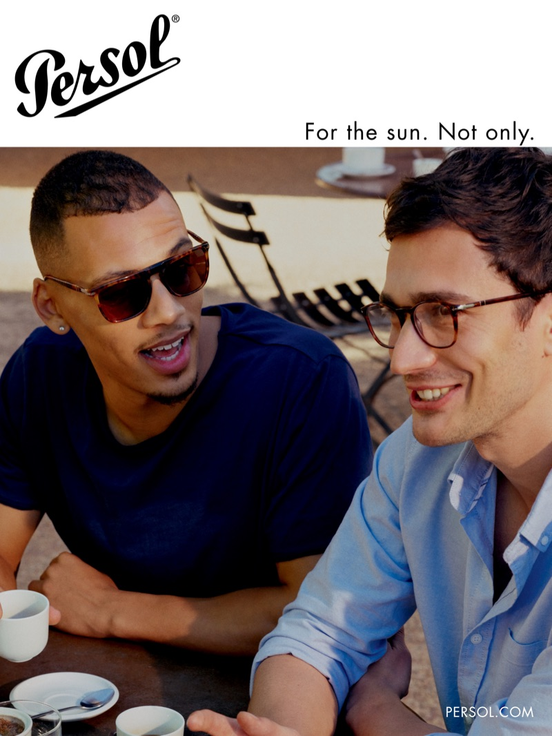 Jordan Bolger and Eugenio Franceschini star in Persol's spring-summer 2019 campaign.