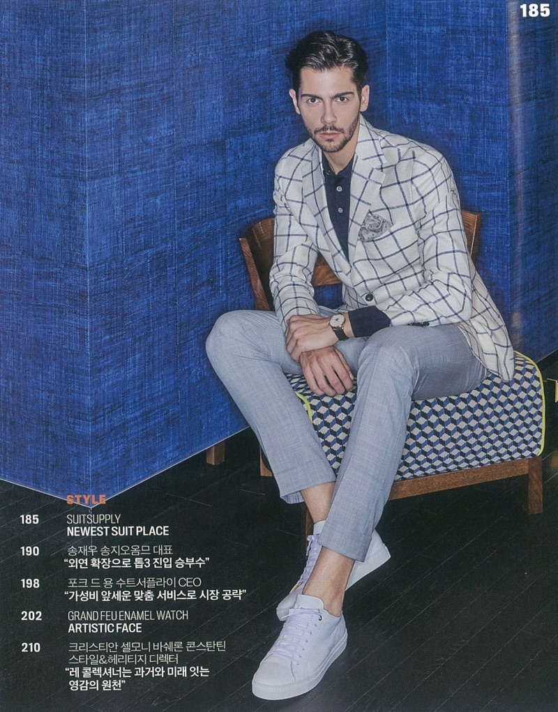 Peter Gaman Dons Suitsupply for Forbes Korea