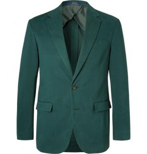 Polo Ralph Lauren - Dark-Green Slim-Fit Unstructured Cotton-Blend Twill Blazer - Men - Green