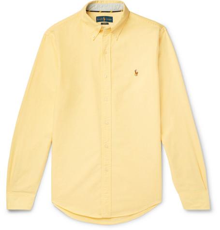 Polo Ralph Lauren - Slim-Fit Button-Down Collar Cotton Oxford Shirt - Men - Yellow