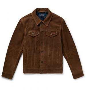 Polo Ralph Lauren - Suede Trucker Jacket - Men - Dark brown