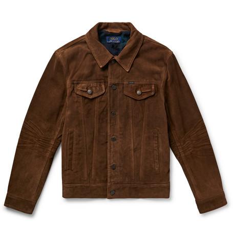 b5d2c1853 Polo Ralph Lauren - Suede Trucker Jacket - Men - Dark brown
