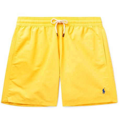 074e221c56 Polo Ralph Lauren – Traveller Mid-Length Swim Shorts – Men – Yellow ...