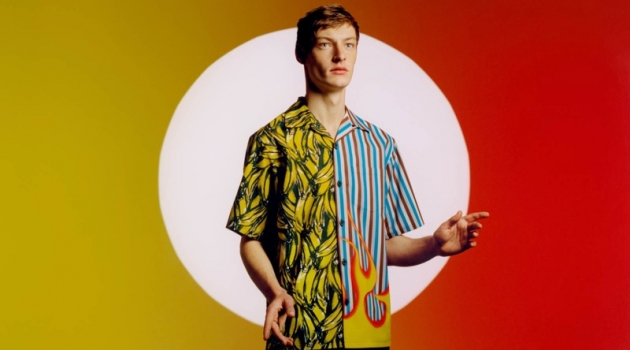 Roberto Sipos stars in Prada's Double Match campaign.