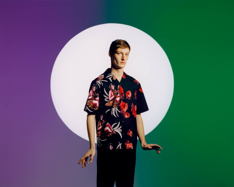 Front and center, Roberto Sipos stars in Prada's Double Match campaign.