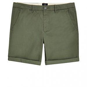River Island Mens Khaki skinny fit chino shorts