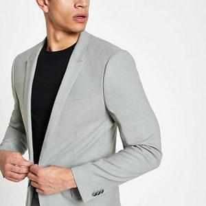 River Island Mens Mint green skinny suit jacket