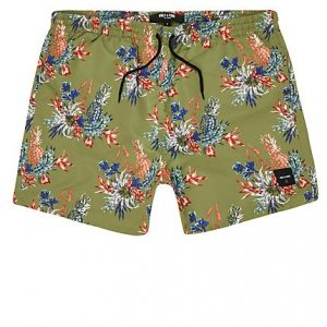 River Island Mens Only and Sons green tropical print swim shorts