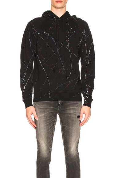 Saint Laurent Hoodie in Abstract,Black,Blue,Red. - size M (also in S,L,XL)