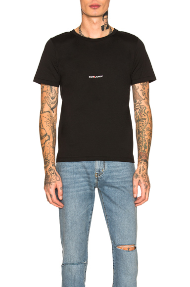 Saint Laurent Logo Tee in Black. - size M (also in S,L,XL)
