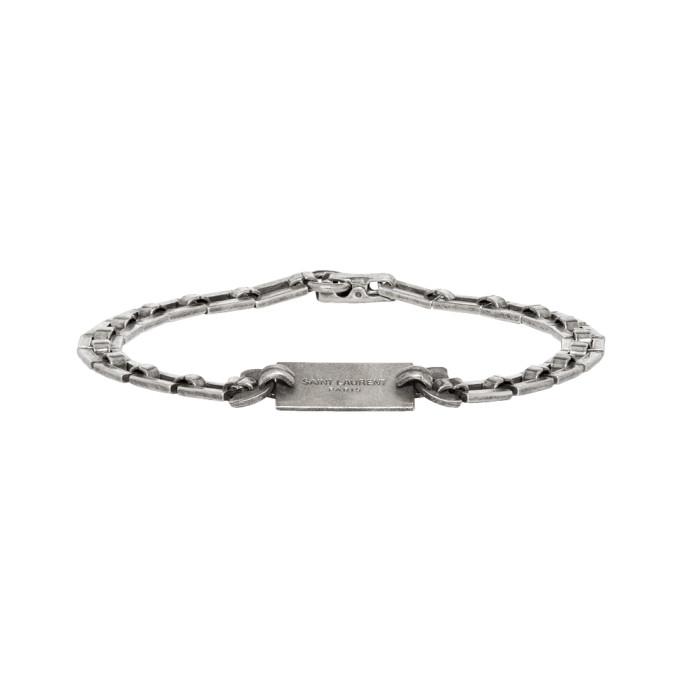 88a792d00e6 Saint Laurent Silver Plate Bracelet   The Fashionisto