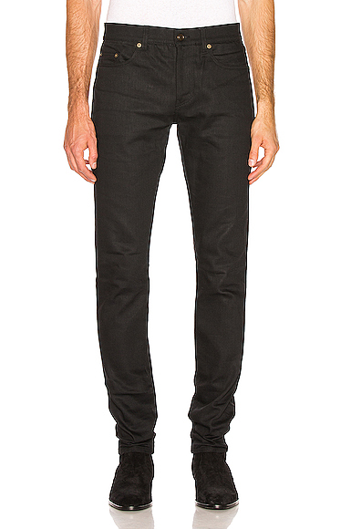 Saint Laurent Skinny Jeans in Black. - size 32 (also in 30)