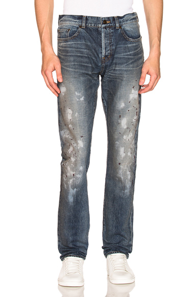 Saint Laurent Slim Fit Jean in Blue. - size 30 (also in 28,29,34)