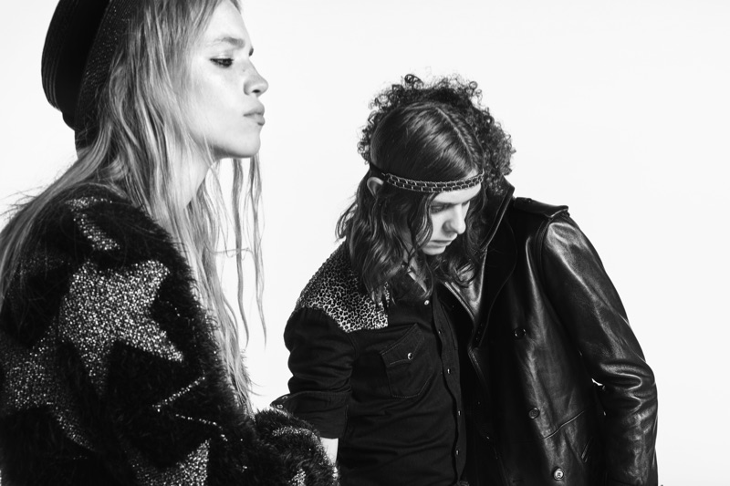Rebecca Leigh Longendyke and Rai Langlois appear in Saint Laurent's spring-summer 2019 denim campaign.