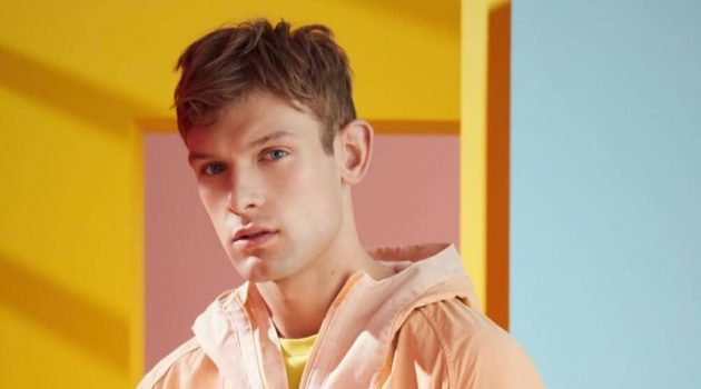 Midsummer Brights: Elliott Reeder Models Colorful Fashions for Scotch & Soda