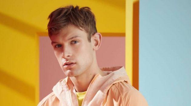 Midsummer Brights: Elliott Reeder Models Colorful Fashions for Scotch & Soda