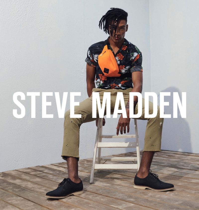 Steve Madden enlists David De Jesus Garcia to star in its summer 2019 campaign.