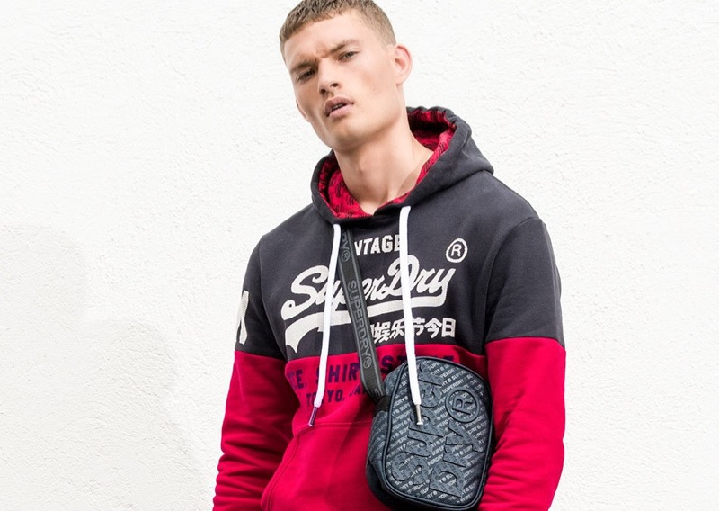 Model William Los fronts Superdry's spring-summer 2019 outing.
