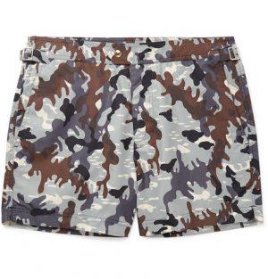 TOM FORD - Mid-Length Camouflage-Print Swim Shorts - Men - Gray