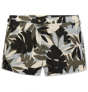 TOM FORD - Slim-Fit Mid-Length Printed Swim Shorts - Men - Multi