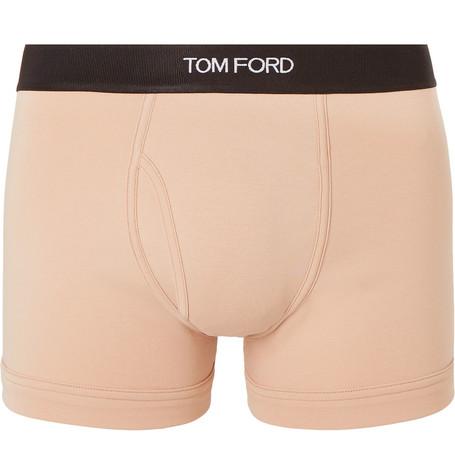 TOM FORD - Stretch-Cotton Boxer Briefs - Men - Beige