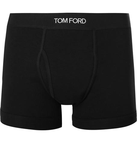 TOM FORD - Stretch-Cotton Boxer Briefs - Men - Black