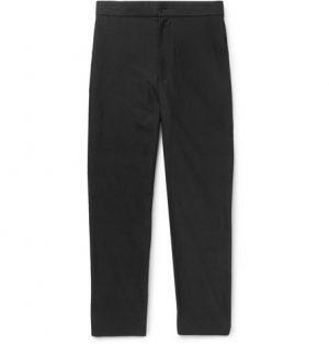 The Row - Black LA Track Slim-Fit Tapered Cotton Trousers - Men - Black