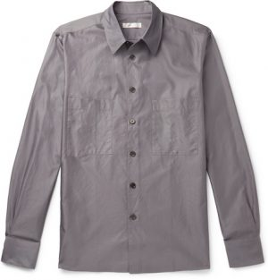 The Row - Gerald Cotton Shirt - Men - Gray