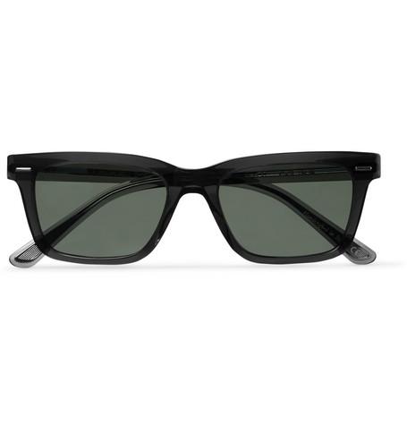 The Row - Oliver Peoples BA CC Square-Frame Acetate Polarised Sunglasses - Men - Dark gray