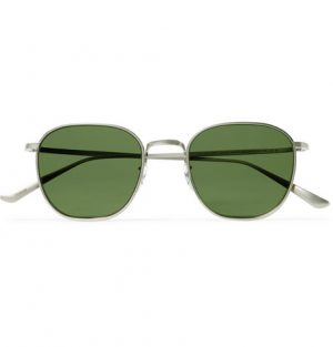 The Row - Oliver Peoples Board Meeting 2 Square-Frame Silver-Tone Titanium Sunglasses - Men - Silver