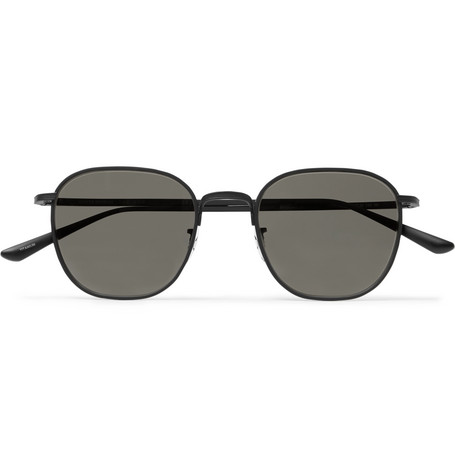The Row - Oliver Peoples Board Meeting 2 Square-Frame Titanium Mirrored Sunglasses - Men - Black